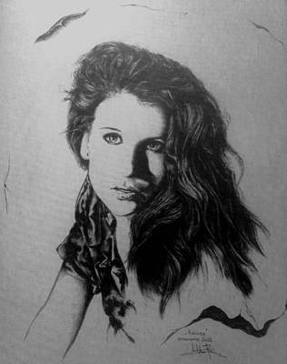 Drawing - Raluca by Robert Art