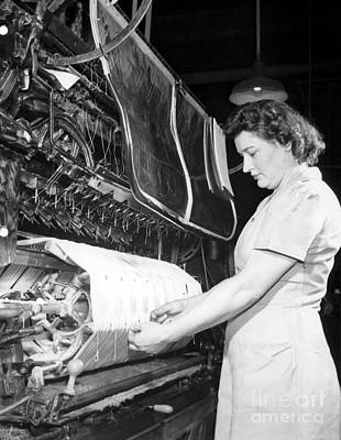 Rayon Production, 1950s Print by Hagley Archive