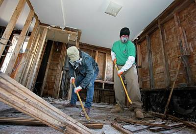 Staten Island Photograph - Repairing Hurricane Sandy Damage by Jim West