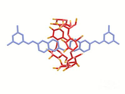Rotaxane, Molecular Crystal Structure Print by Alfred Pasieka