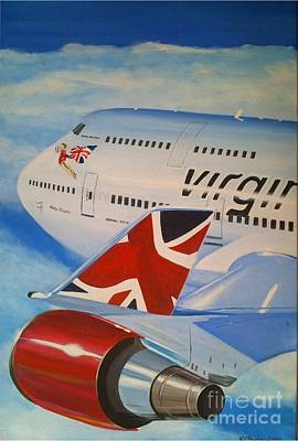 Airliners Painting - Ruby Tuesday by Richard John Holden RA