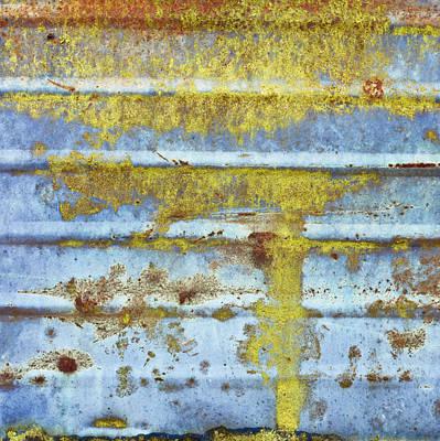 Metallic Sheets Photograph - Rusty Metal by Tom Gowanlock