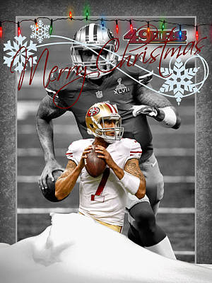 San Francisco 49ers Christmas Card Print by Joe Hamilton