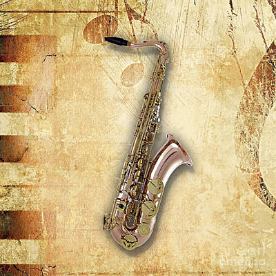 Saxophone Collection Print by Marvin Blaine