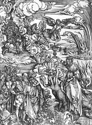 Scene From The Apocalypse Print by Albrecht Durer or Duerer