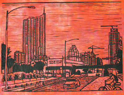 Austin Drawing - Seaholm by William Cauthern