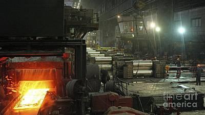 Sheet Mill Processing Molten Metal Print by RIA Novosti