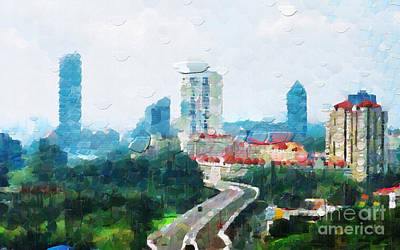Local Attraction Painting - Singapore Painting by George Fedin and Magomed Magomedagaev