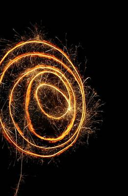 Sparkler Print by Science Photo Library