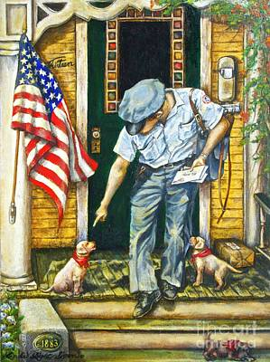 Us Postal Service Painting - Special Delivery by Linda Simon