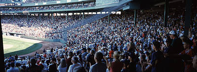 Cheers Photograph - Spectators Watching A Baseball Match by Panoramic Images