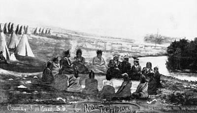Sioux Drawing - Spirit Lake Massacre, 1857 by Granger