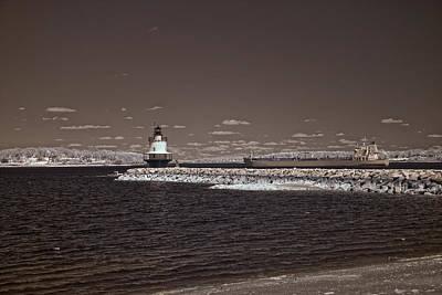 Ledge Photograph - Spring Point Ledge Light by Joann Vitali