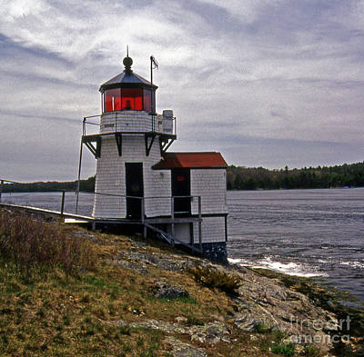 Squirrel Point Lighthouse Print by Skip Willits