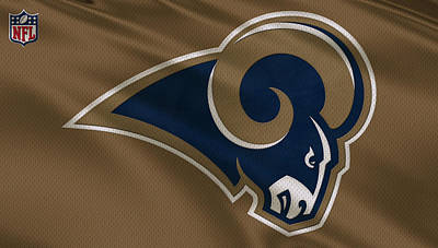 Sports Photograph - St Louis Rams Uniform by Joe Hamilton