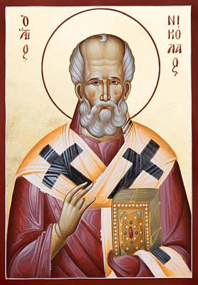 Painting - St Nicholas Of Myra by Julia Bridget Hayes