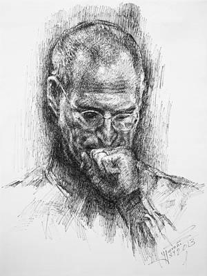 Steve Jobs Print by Ylli Haruni