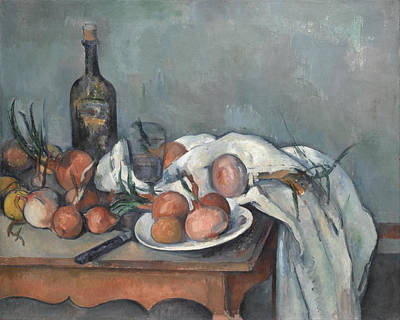 Paul Cezanne Painting - Still Life With Onions by Paul Cezanne