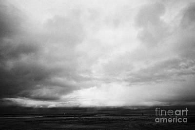 storm snow clouds forming over the prairies assiniboia Saskatchewan Canada Print by Joe Fox