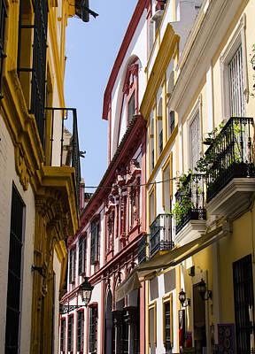Streetlight Photograph - Streets Of Seville - Magic Colours by Andrea Mazzocchetti
