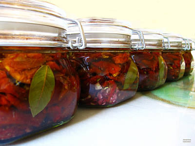 Water Jars Photograph - Sun Dried Tomatoes In Olive Oil by Alexandros Daskalakis