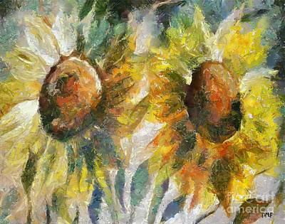 Food And Beverage Painting - Sunflowers by Dragica  Micki Fortuna