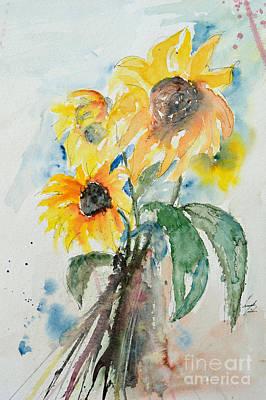 Sunflowers Print by Ismeta Gruenwald
