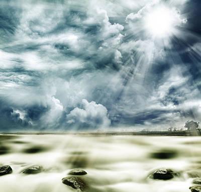 Heaven Photograph - Sunlight by Les Cunliffe