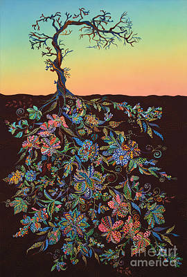 Sunset Print by Erika Pochybova