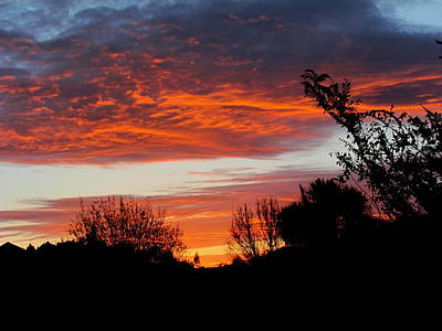 Sunset New Zealand Print by Joyce Woodhouse