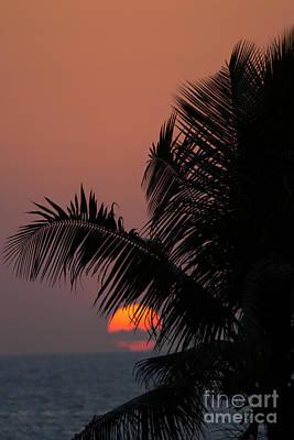 Sunset On Kuta Beach Bali Indonesia Print by Fototrav Print