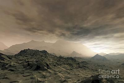 Venusian Photograph - Surface Of Venus, Artwork by Detlev van Ravenswaay
