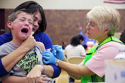 2009 Photograph - Swine Flu (h1n1) Vaccination by Jim West