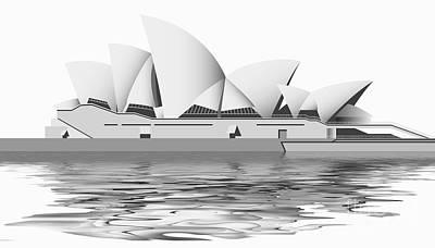 Tourist Attraction Digital Art - Sydney Opera House by Michal Boubin