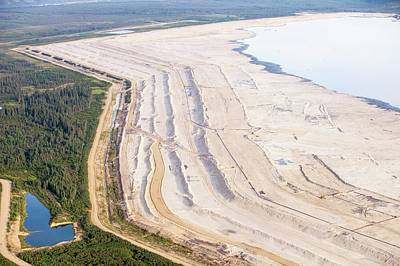 Destruction Photograph - Tailings Pond At Syncrude Mine by Ashley Cooper