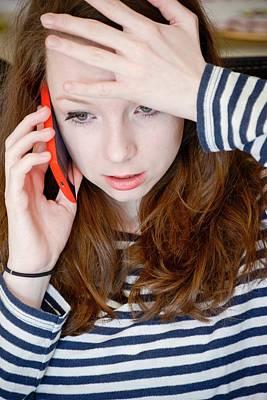 Angst Photograph - Teenage Cyberbullying by Aj Photo