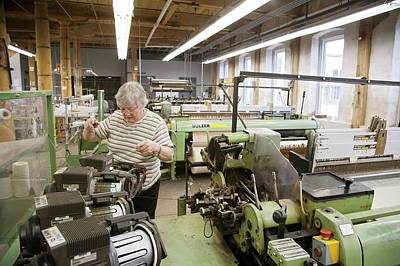Textile Mill Loom Operator Print by Jim West