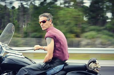 Harley Davidson Photograph - The Biker by Laura Fasulo