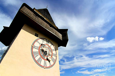 Styria Photograph - The Clock Tower In Graz by Michael Osterrieder
