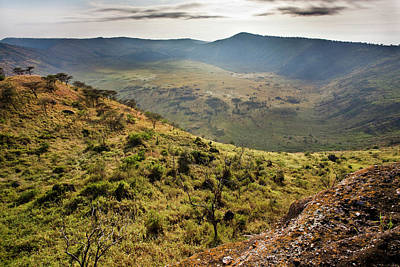 Congo Photograph - The Crater Area In Queen Elizabeth by Martin Zwick