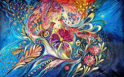 Swarovski Crystal Painting - The Flowers Of Sea by Elena Kotliarker