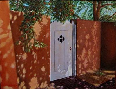 The Garden Gate Print by Gene Gregory