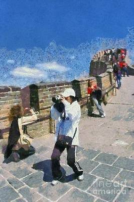 China Painting - The Great Wall In China by George Atsametakis