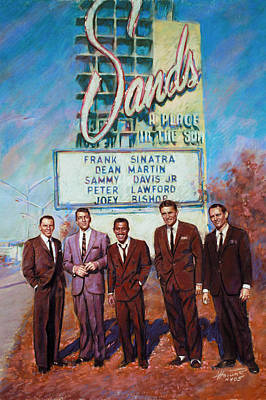 The Rat Pack Print by Viola El