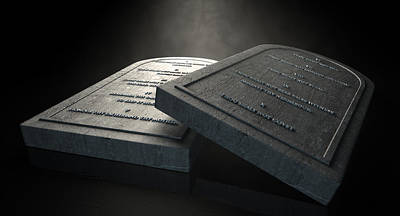 Old Testament Digital Art - The Ten Commandments by Allan Swart