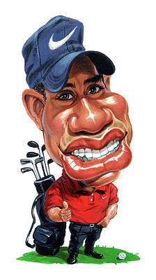 Painting - Tiger Woods by Art