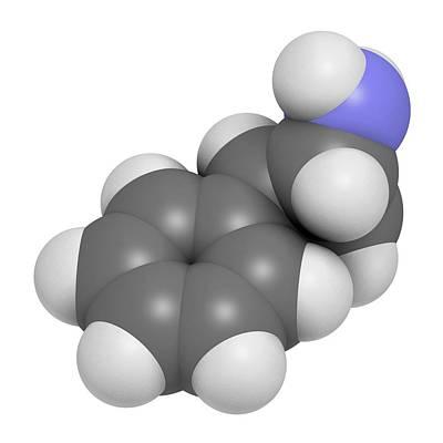Tranylcypromine Antidepressant Drug Print by Molekuul