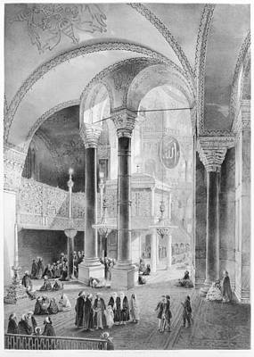 Renovation Painting - Turkey Hagia Sophia, 1852 by Granger