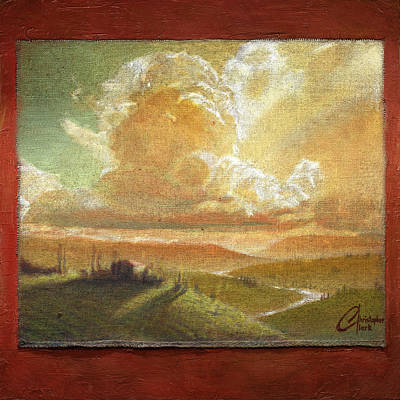 Tuscan Sunset Painting - Tuscan Glow by Christopher Clark
