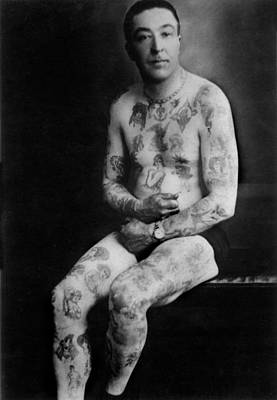 Old Tattoo Photographs Flash Art Original by Larry Mora